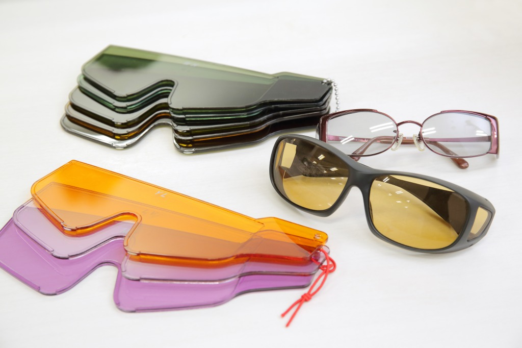 colored glasses for low vision